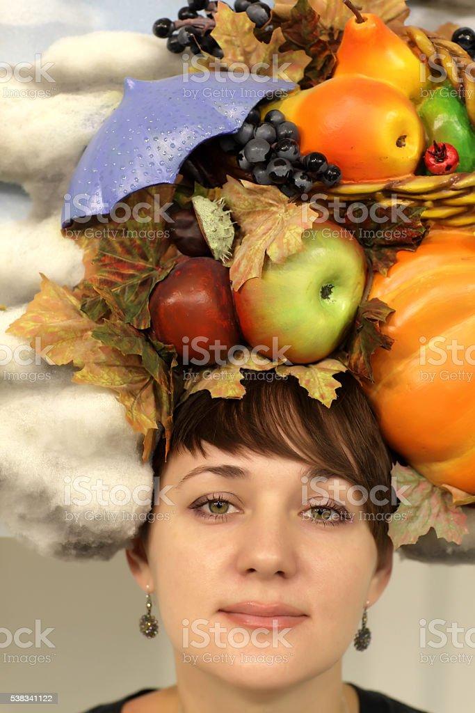 Autumn woman stock photo