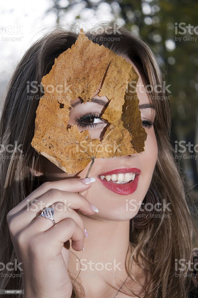 Autumn woman portrait royalty-free stock photo
