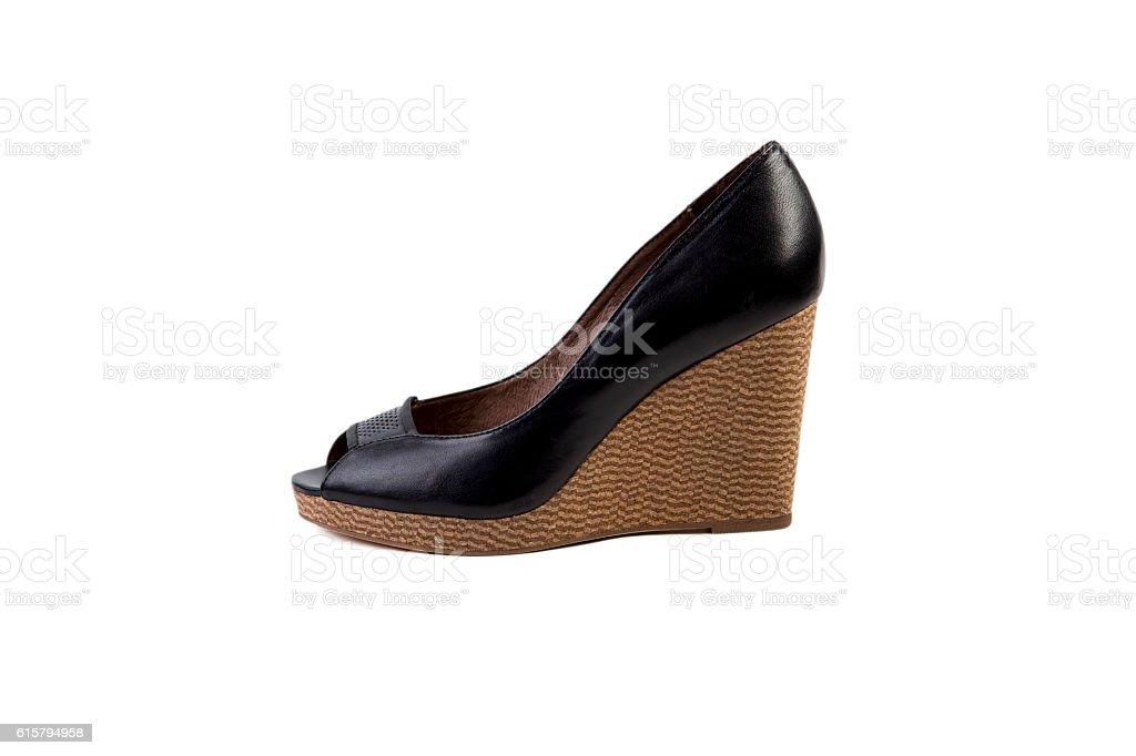 autumn women's shoes, online store stock photo
