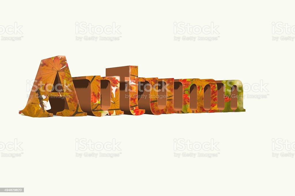 Autumn Word stock photo