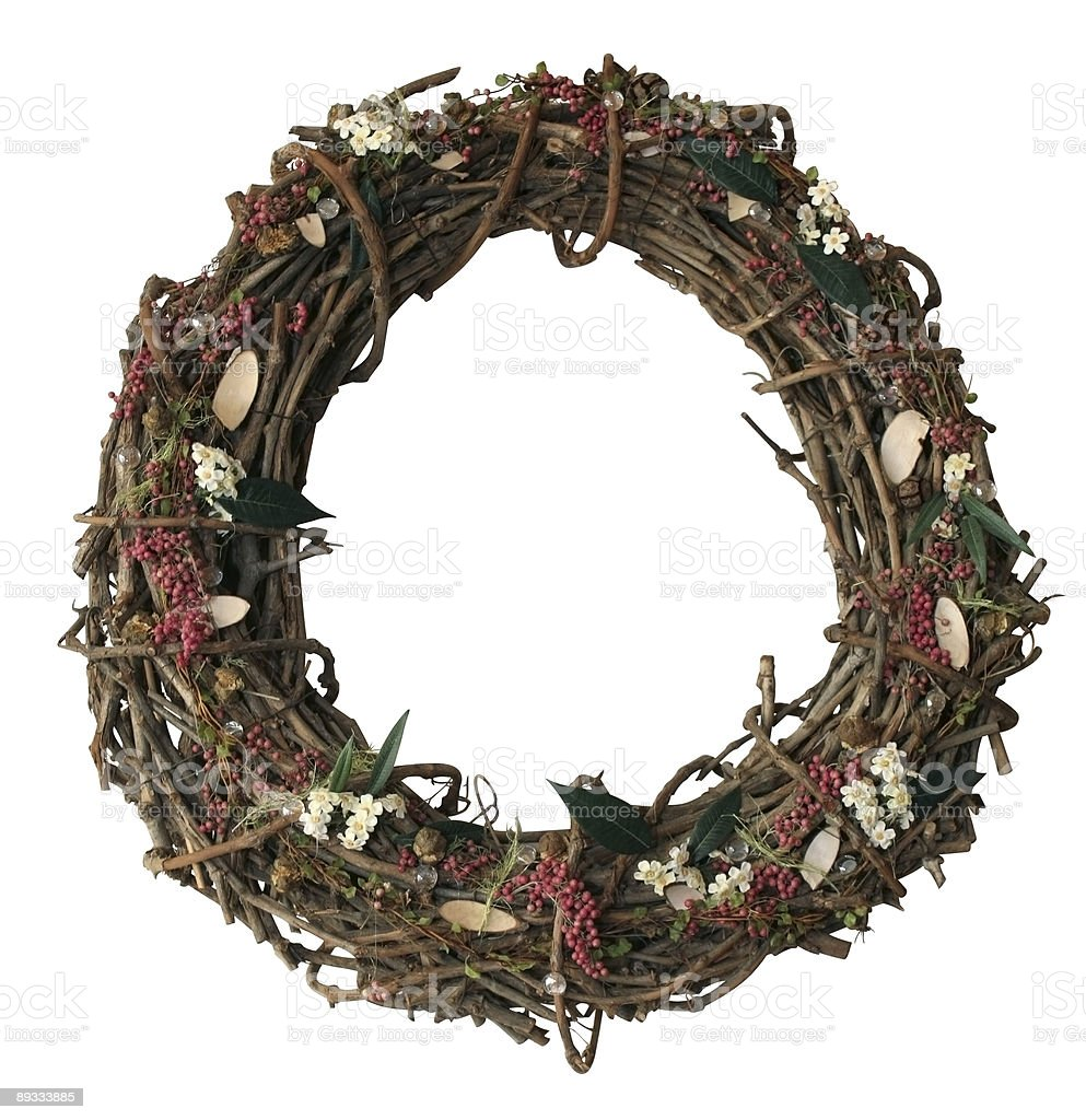 autumn wreath stock photo