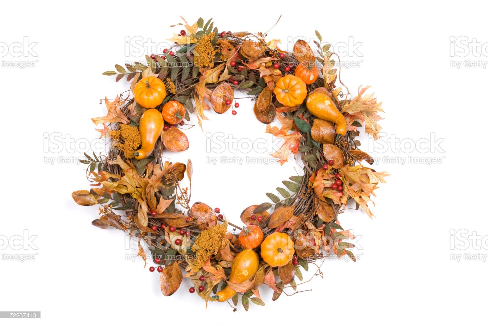 Autumn Wreath Series royalty-free stock photo