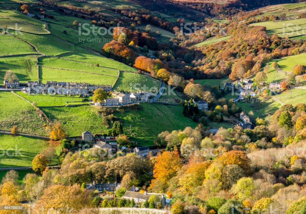 autumn yorkshires valley stock photo