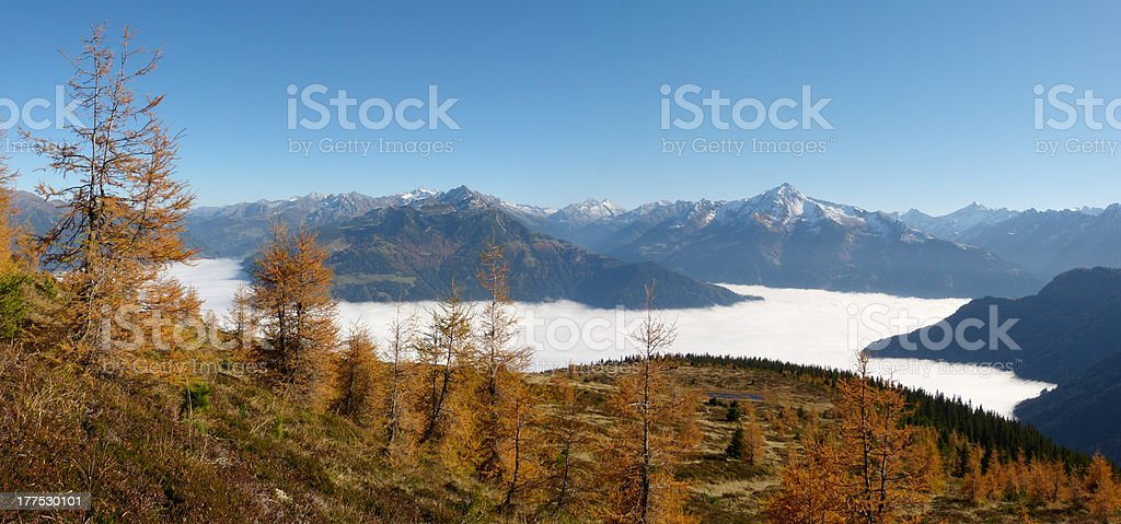 autumnal Alpine panorama royalty-free stock photo