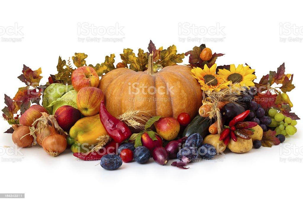 Autumnal  arrangement. royalty-free stock photo