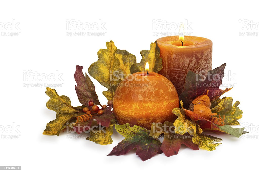 Autumnal Candles. royalty-free stock photo