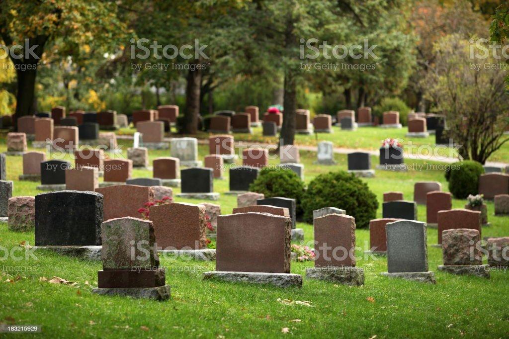 Autumnal Cemetery stock photo