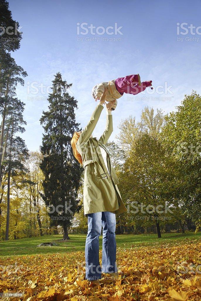 Autumnal fun royalty-free stock photo