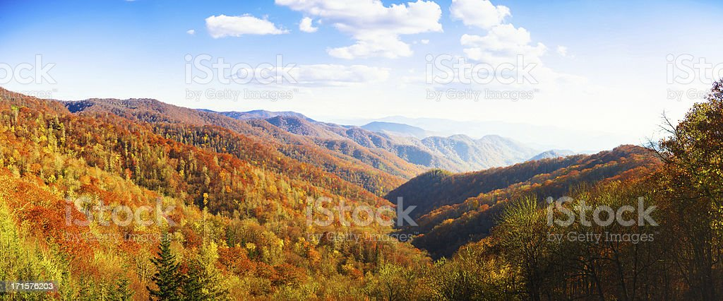 Autumnal Landscape, Great Smoky Mountains royalty-free stock photo