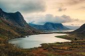 Autumnal Landscape in Lofoten, Norway