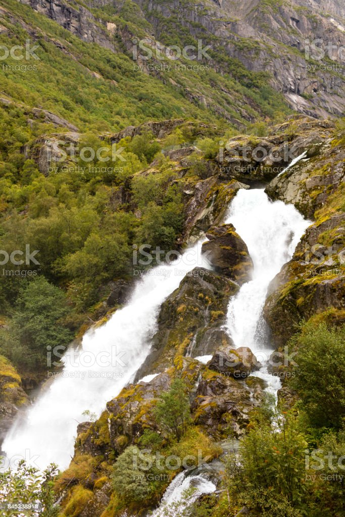 autumnal landscape in norway stock photo