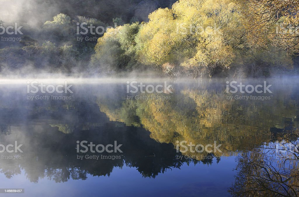Autumnal Mist over Water royalty-free stock photo