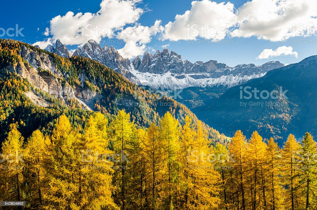 Autumnal Mountain Landscape stock photo