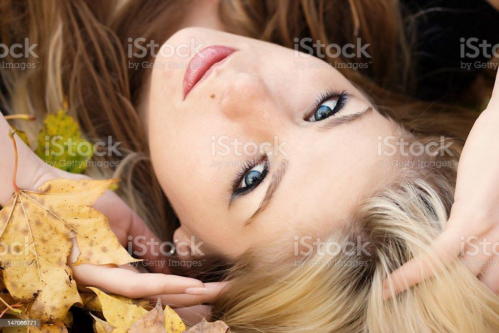 Autumnal portrait royalty-free stock photo