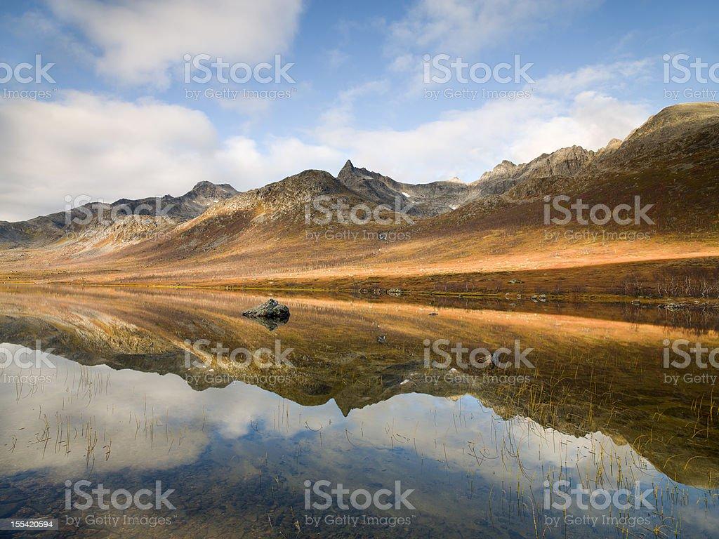 Autumnal Reflections, Troms? stock photo
