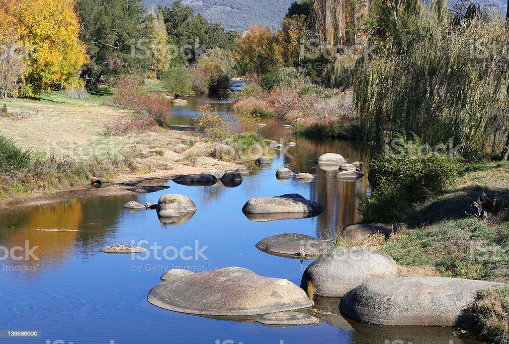 Autumnal River stock photo