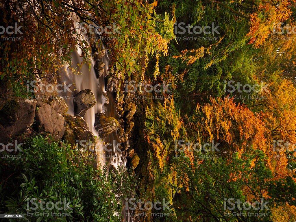 Autumnal scene in Perthshire, Scotland. stock photo