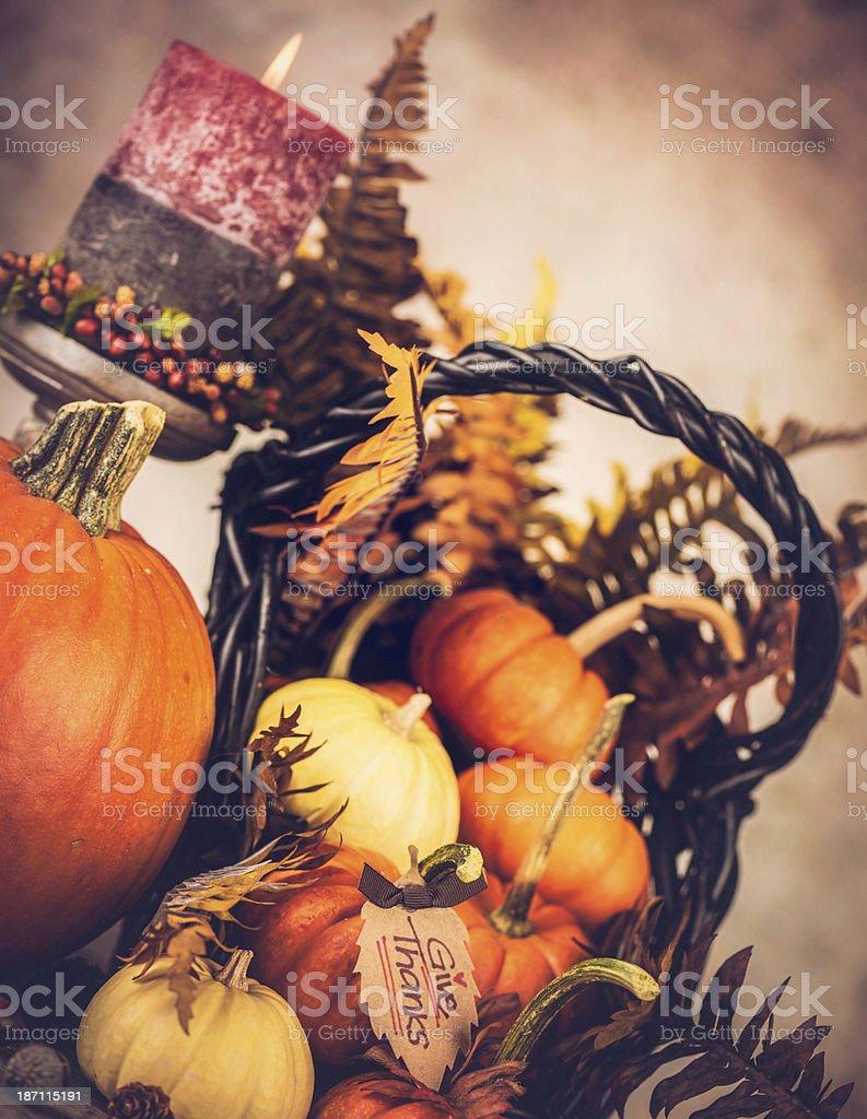 Autumnal Thanksgiving Arrangement royalty-free stock photo