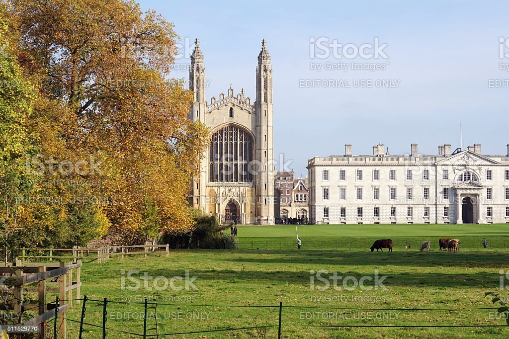 Autumnal View Of King's College Chapel, Cambridge, England stock photo