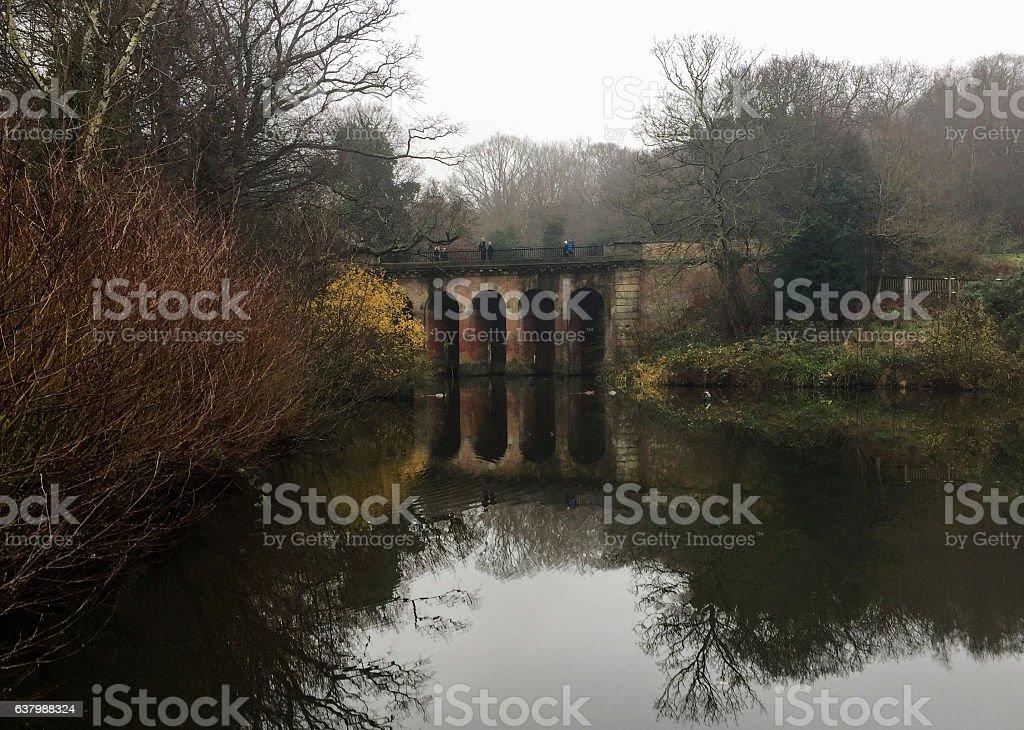 Autumny bridge stock photo