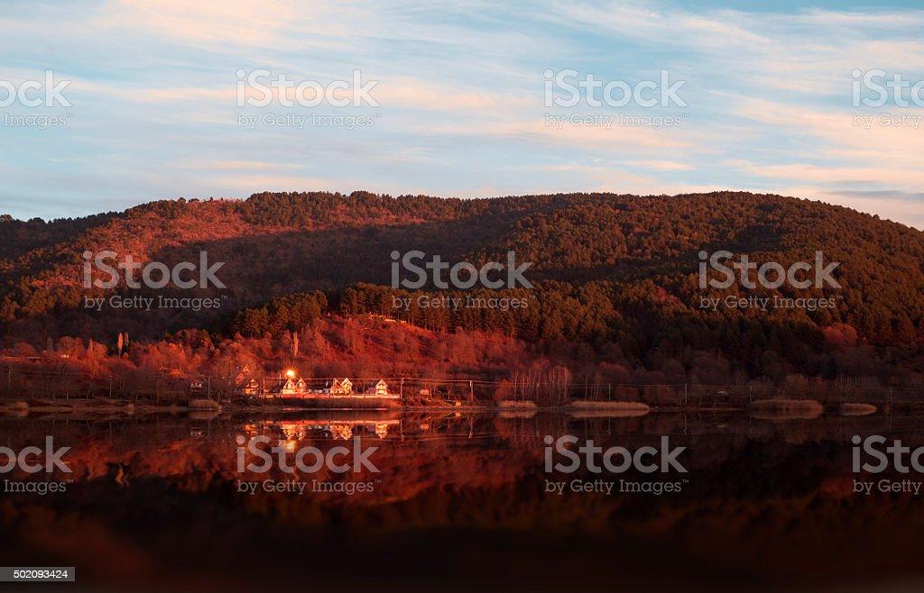 Autumun landscape stock photo