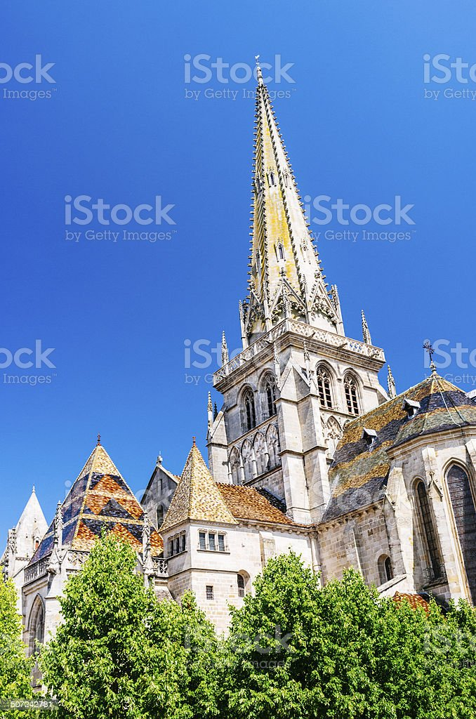 Autun Cathedral, Burgundy royalty-free stock photo