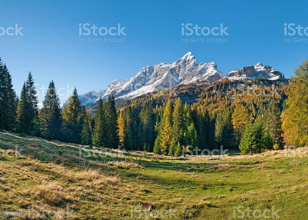 Autunno nelle Dolomiti royalty-free stock photo
