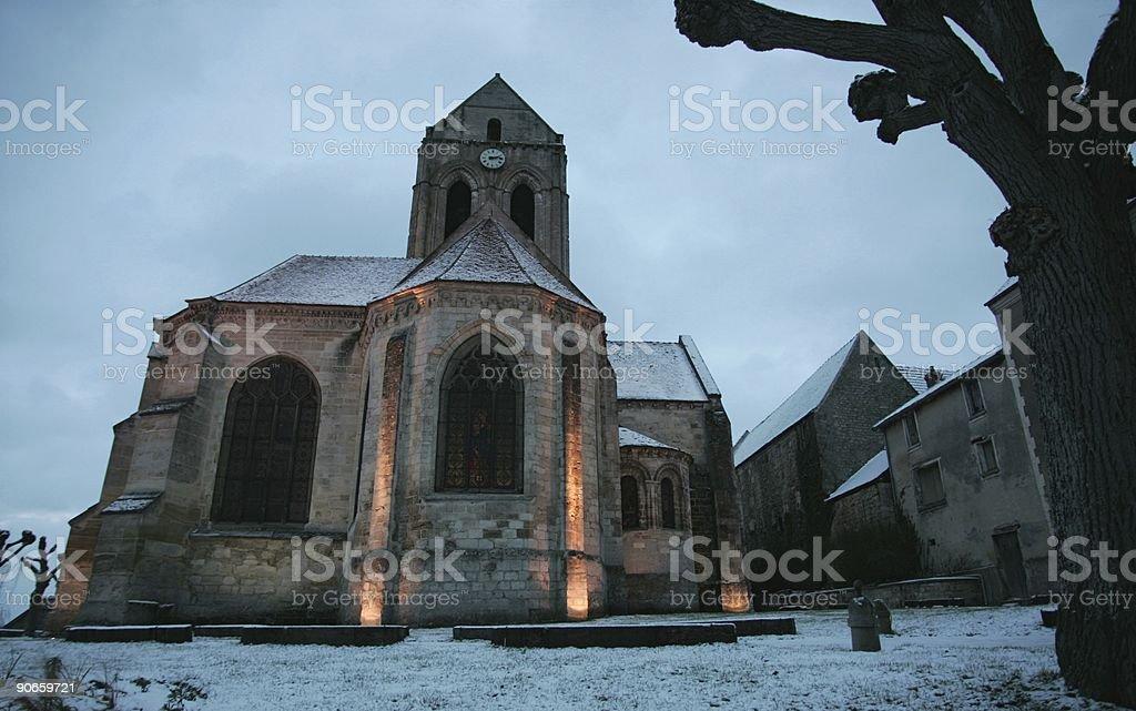 Auvers sur Oise church stock photo