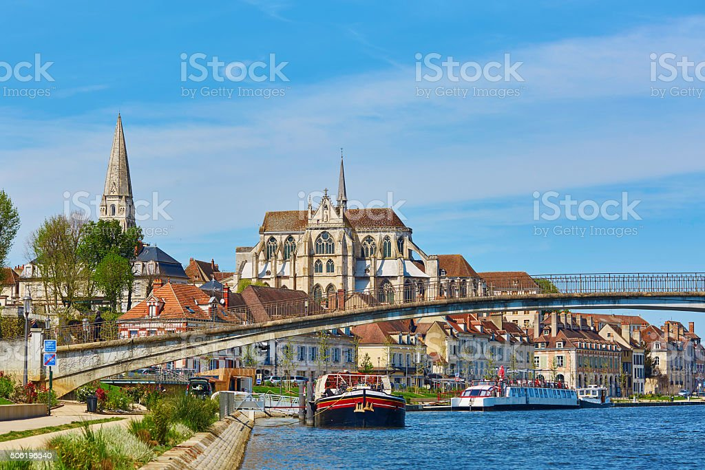 Auxerre, Burgundy, France stock photo