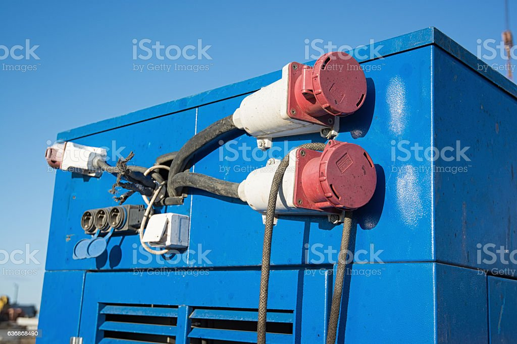 Auxilary diesel generator stock photo
