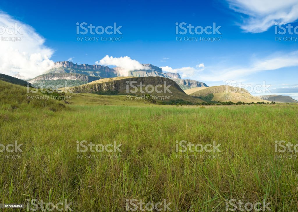 Auyantepuy seen from Kamarata Valley royalty-free stock photo