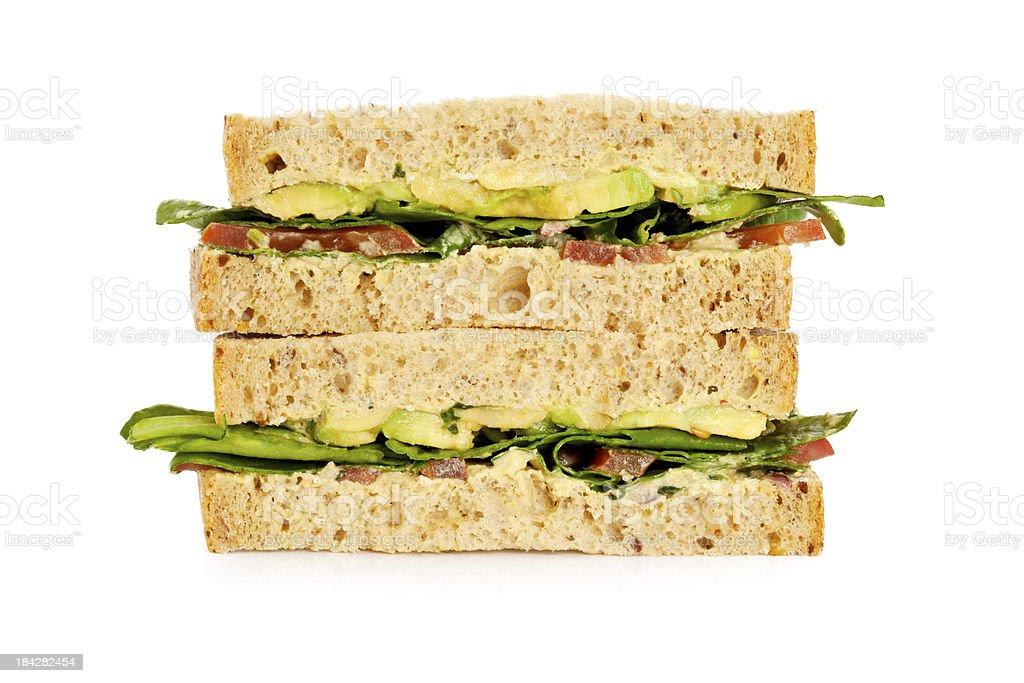 Avacado Sandwich royalty-free stock photo