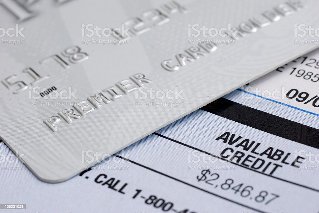 Available Credit royalty-free stock photo