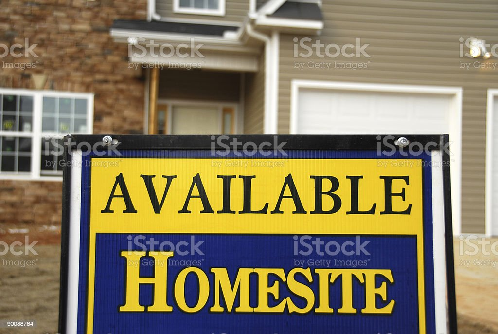 Available Homesite stock photo