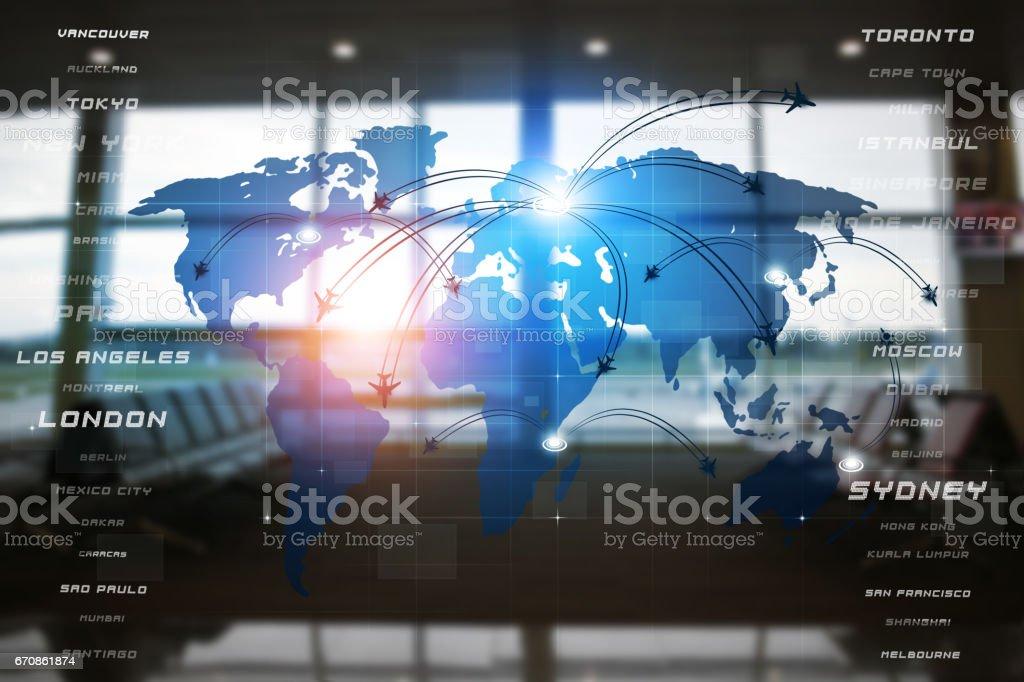 Avaitaion Business Interface stock photo
