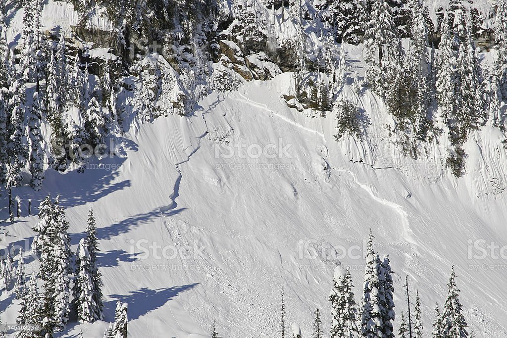 Avalanche Aftermath stock photo