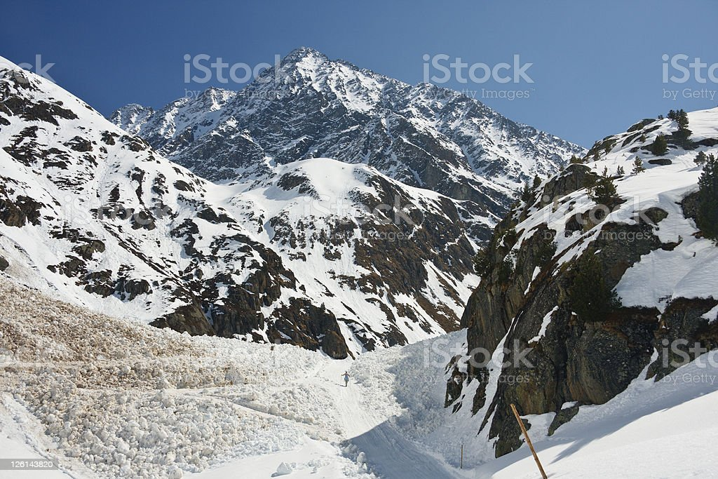 Avalanche Area stock photo