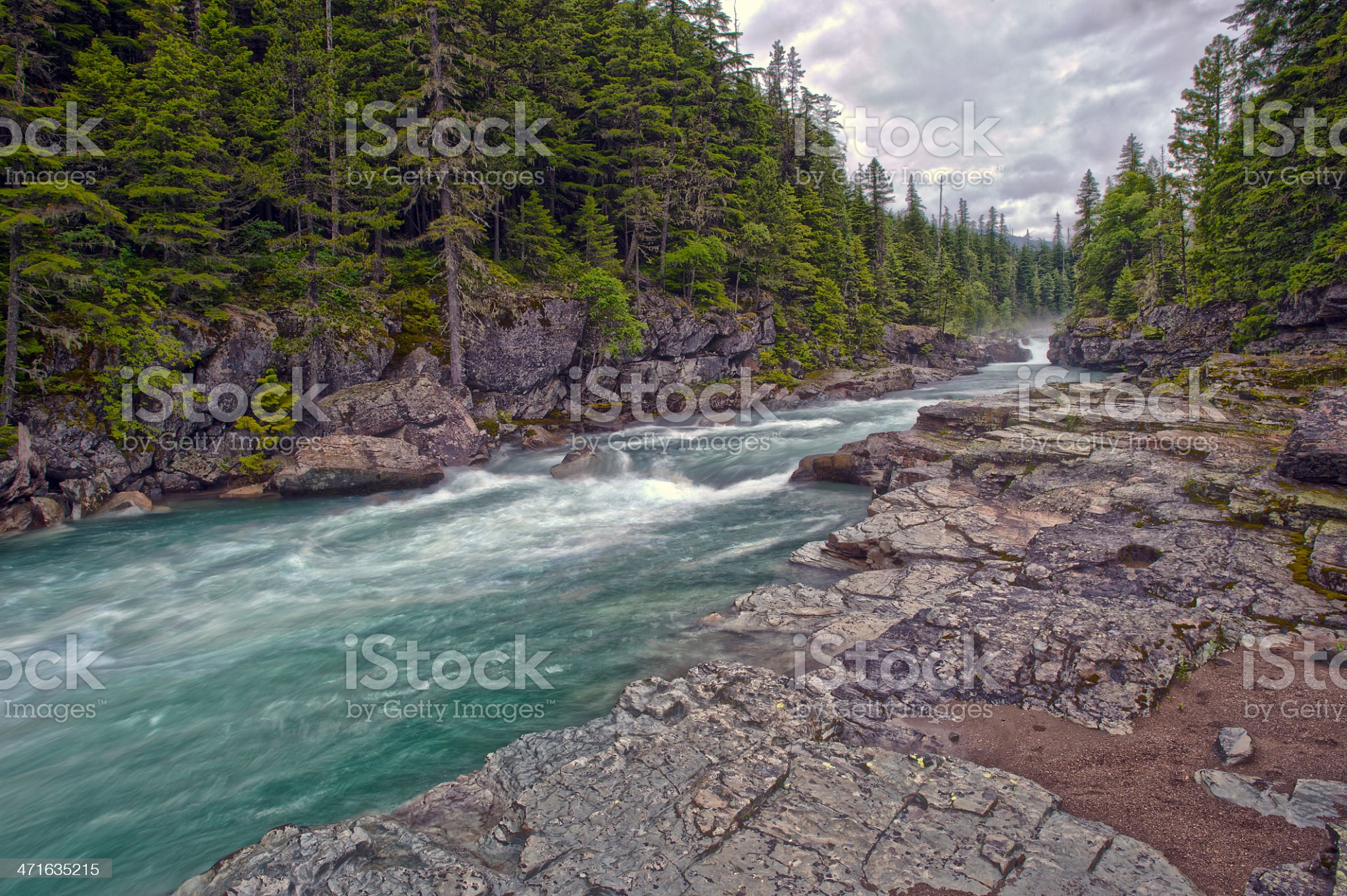 Avalanche Creek HDR royalty-free stock photo