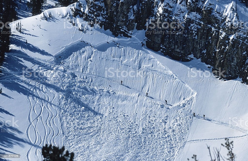 Avalanche Crossing stock photo