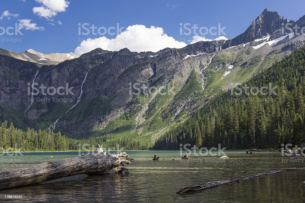 Avalanche Lake and Mountains royalty-free stock photo