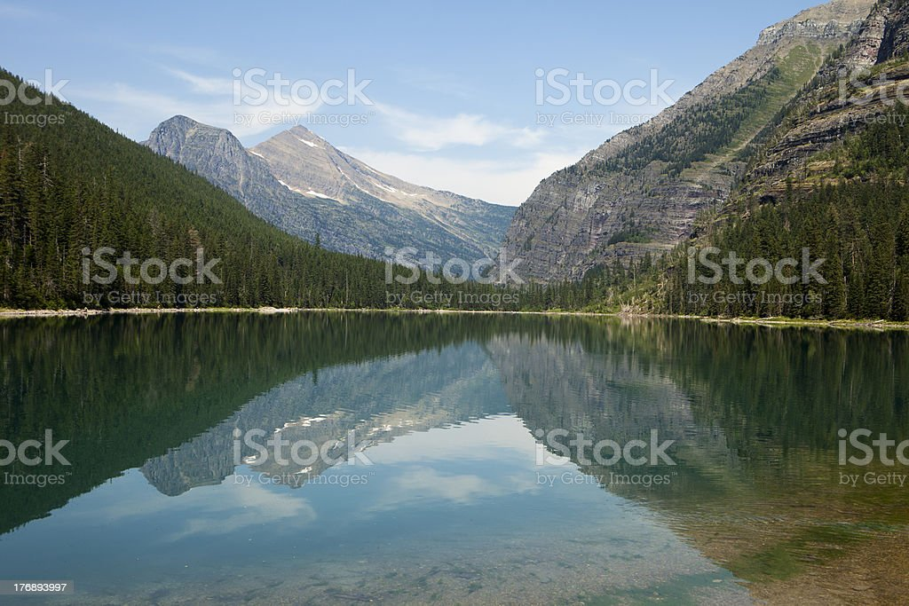 Avalanche Lake Landscape royalty-free stock photo