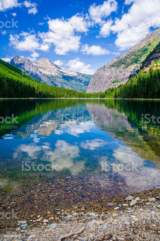 Avalanche Lake stock photo