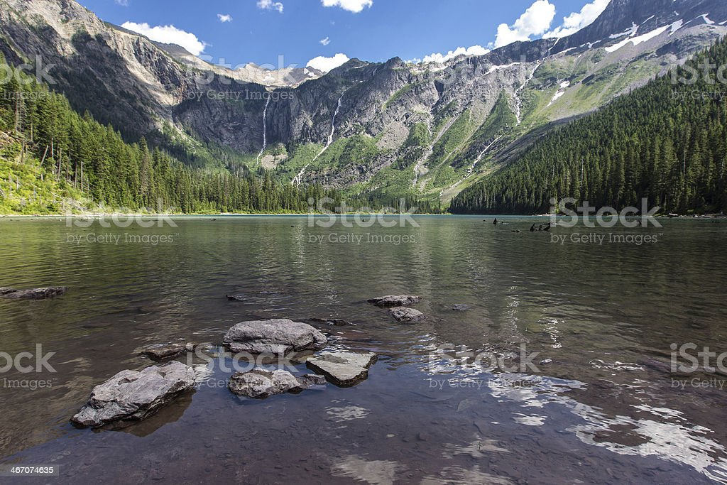 Avalanche Lake royalty-free stock photo