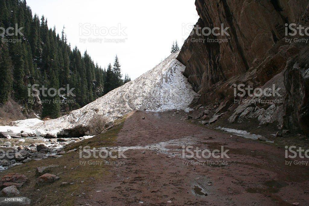 avalanche stock photo