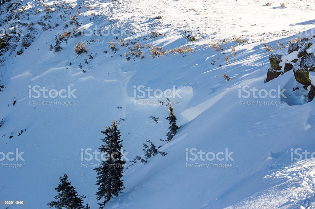 Avalanche stock photo
