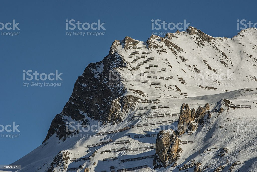 avalanche, protection, syst?me, neige, montagne, danger stock photo