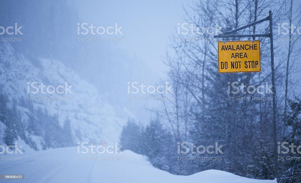 Avalanche Sign royalty-free stock photo