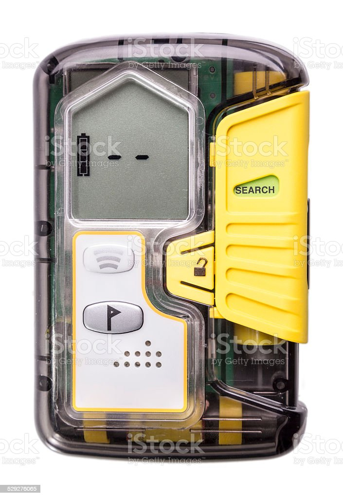 Avalanche Transceiver stock photo