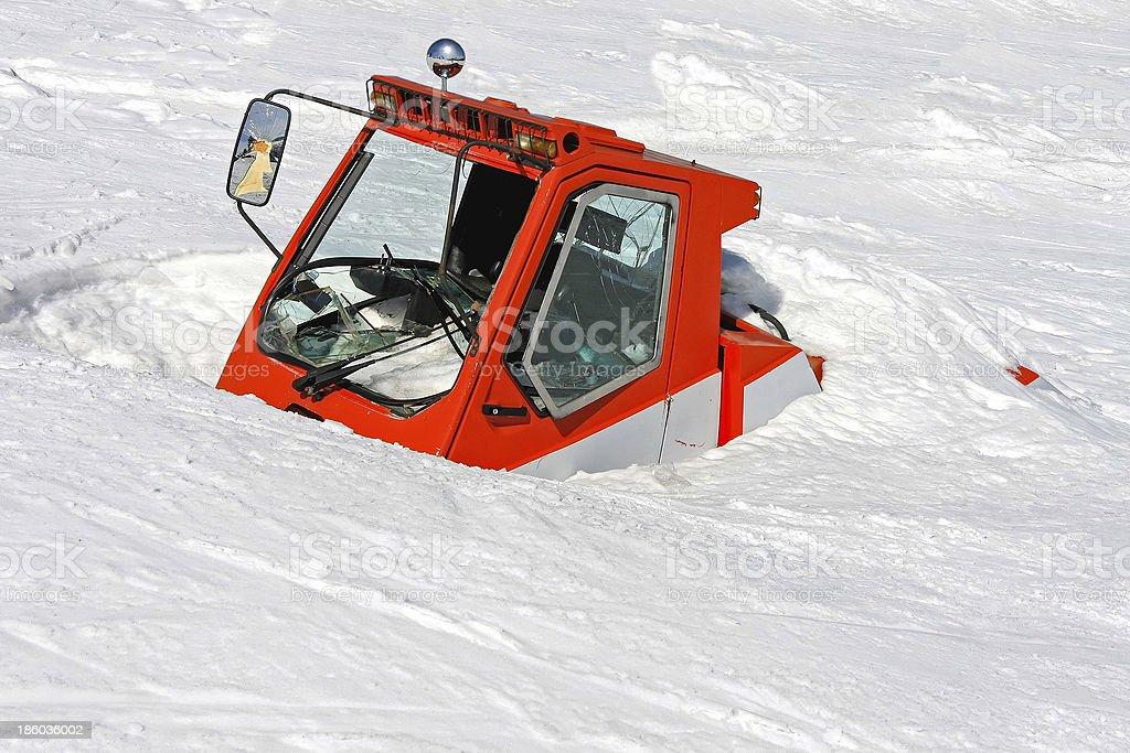 Avalanche vehicle stock photo