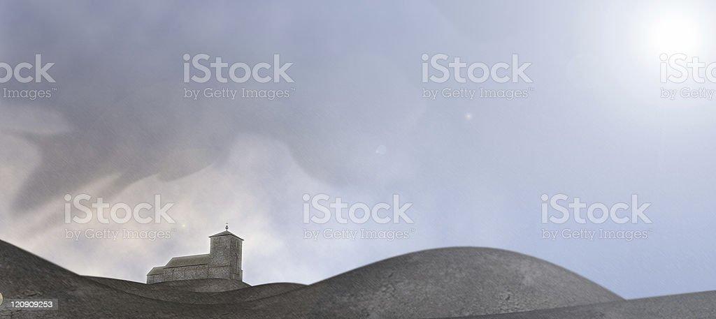 Avaldsnes church royalty-free stock photo